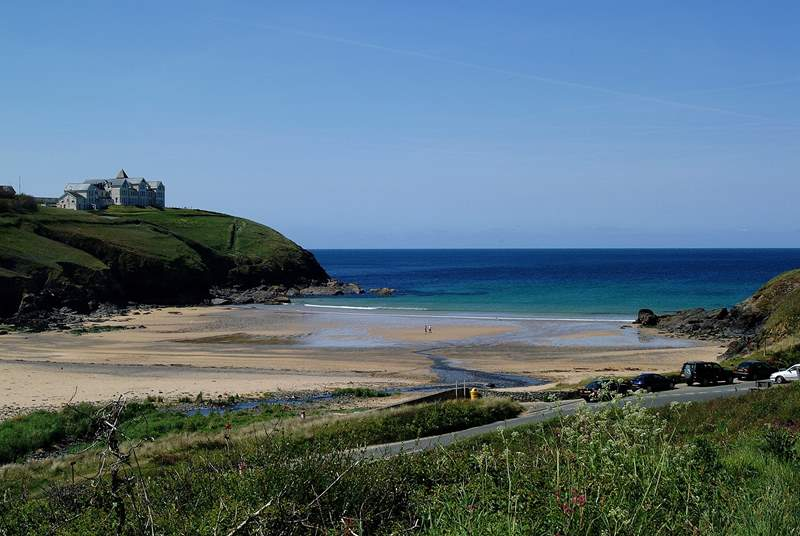 Along the coast towards Porthleven lies beautiful Poldhu Cove, the next sandy beach after Polurrian.