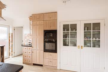 You will find lots of equipment, lots of storage and lots of everything in these cupboards.