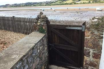 Direct access to the beach is only a gate away.