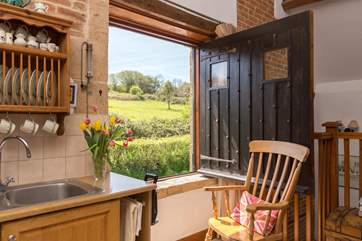 The original barn window opens right up but do take great care - best to keep it shut if you are staying with children.