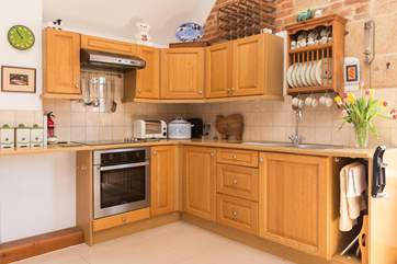 The kitchen is very well-equipped, with many items over and above our usual inventory.