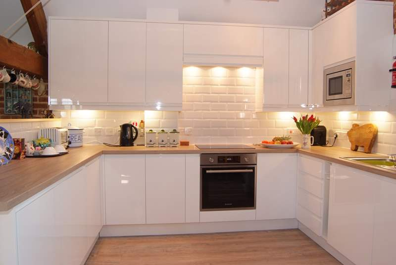 There is a fabulous brand new kitchen, fully equipped as a real home from home