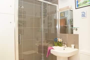 The en-suite shower room is brand new.