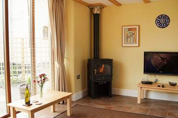The cosy wood-burner will warm your toes and your wine!