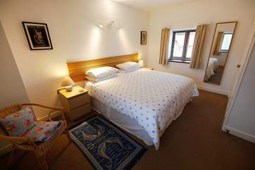Both bedrooms at The Garden House are very comfortable.