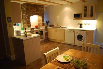 The fully equipped kitchen is a joy to use.