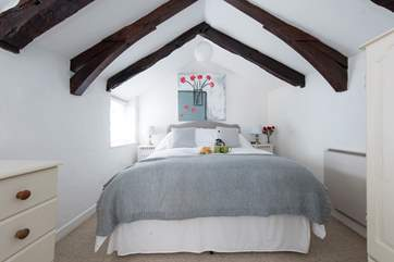 A comfortable double bed.