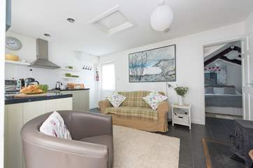 The living-area is open-plan.