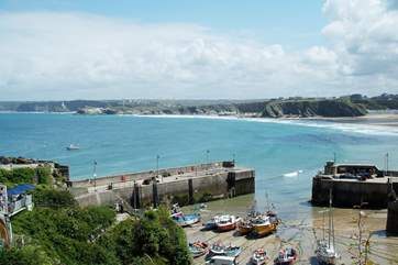 The harbour at Newquay.