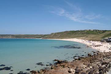 Superb coves are easily accessible from Penzance such as Sennen.