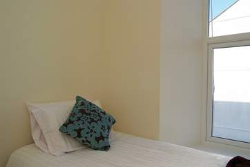 Bedroom 2, the single room.