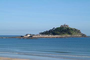 St Michael's Mount is visible in the distance from  the apartment.