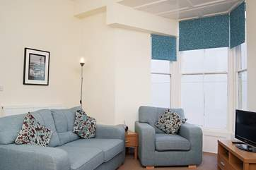 The sitting-area in the open plan living-room.