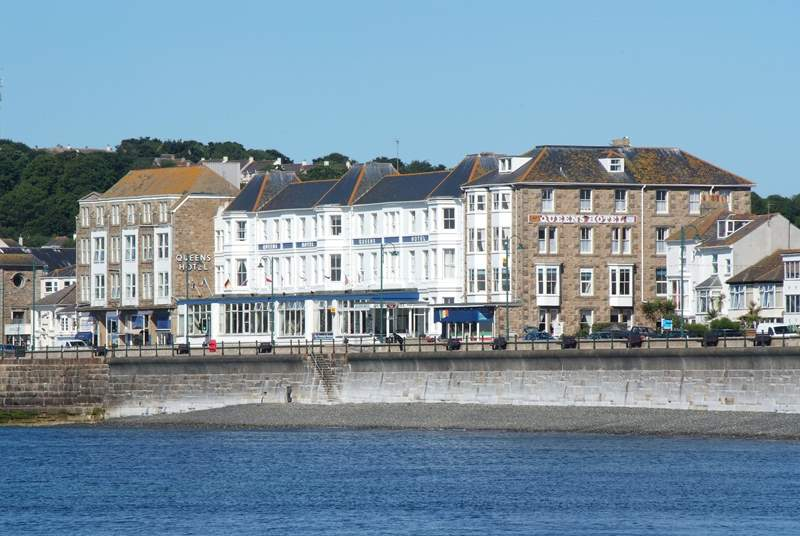 The Queens Quarters is within the Queens Hotel on the edge of the promenade.