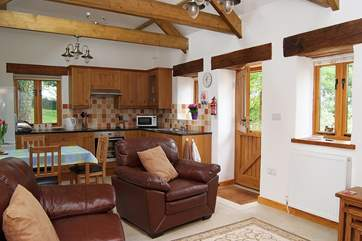 The comfortable open plan living-room.