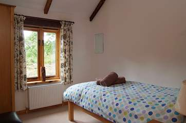 The single bedroom is suitable for either a child or an adult.