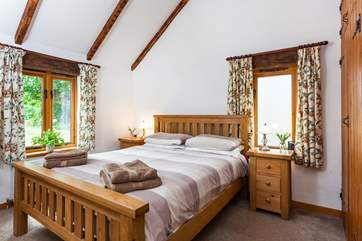 The spacious double bedroom.
