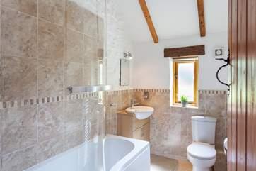 Bright family bathroom.
