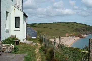 The view of the coastline looking towards Slapton Sands and beyond.