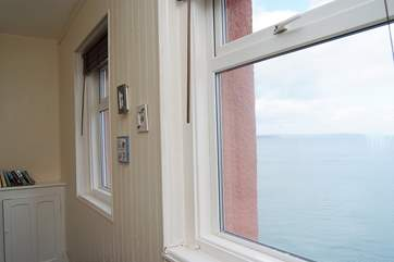 There are sea views from the front bedroom.