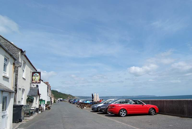 The Cricket Inn in Beesands is a walk along the cliff - not for the faint-hearted.