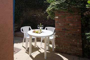 The fabulous little patio is a wonderful sun-trap.