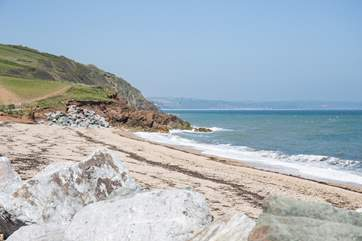 This stunning secluded beach is a hop skip and a jump away from your front door.