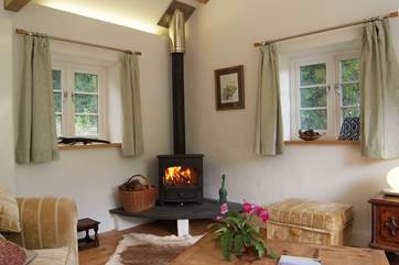 A roaring wood-burner to keep you warm at any time of year.