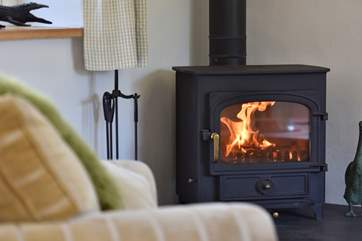 A roaring wood-burner to keep you warm.