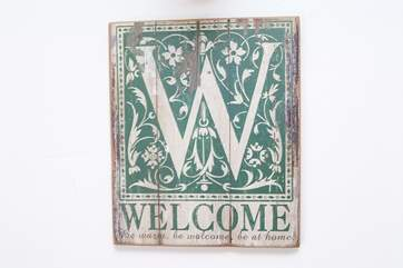 ....and welcome you are.