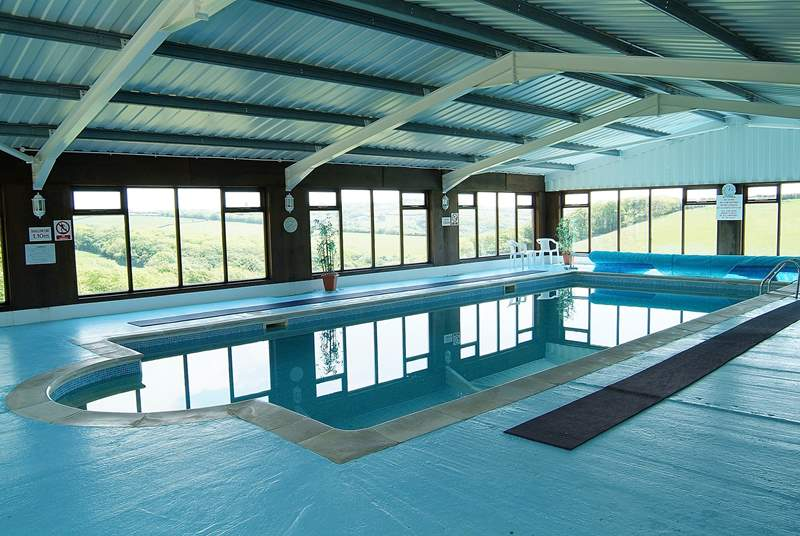 The fabulous indoor pool is available all year round.