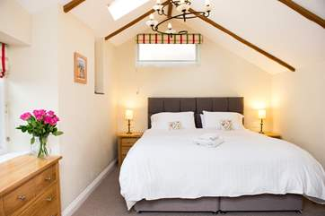The second bedroom which can be made up as a double or twin beds.