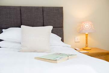 Both bedrooms have lovely crisp white linen.