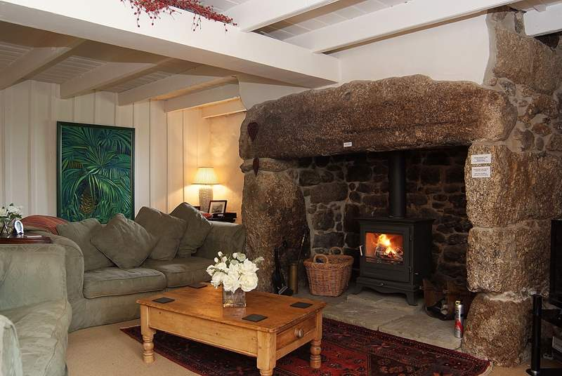 Relax in front of a blazing wood-burner.