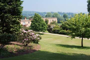 The National Trust gardens and house at Killerton between Tiverton and Exeter.