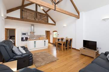 The barn has retained some of its original character as well as being a lovely contemporary space.