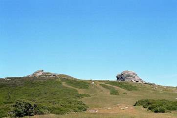 The cottage is an easy drive to the Dartmoor National Park. This is Haytor Rocks, a very popular place to visit and with amazing views if you clamber to the top.