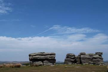 Dartmoor Tors are an iconic feature of the moorland.