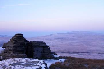 Watern Tor looking to Corsdon. Wrap up warm and enjoy a bracing walk whatever the time of year.