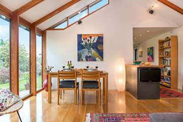 The contemporary interior....