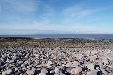 This is north Somerset's Kilve beach, a designated Area of Outstanding Natural Beauty and famous for fossils.