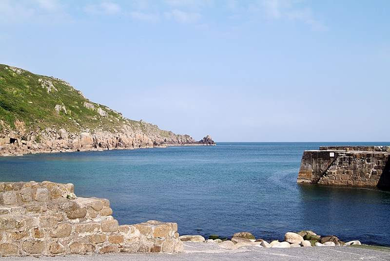 Lamorna Cove is two miles away.