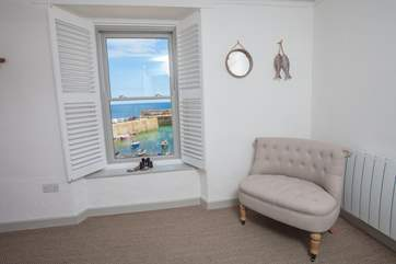 Sea views from the master bedroom's sitting-area(Bedroom 1).