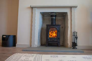 A roaring wood-burner to take the the chill out of the winter.