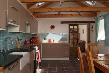 The kitchen is beautifully fitted and well-equipped.