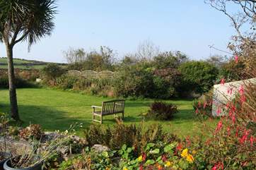 The lawned garden.