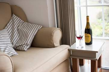 Enjoy a glass of wine whilst relaxing.