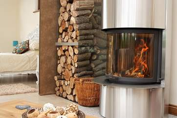 The wood-burner may be useful even in August but hopefully not!