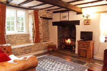 This is a great place to come back to after a bracing walk. As expected with a cottage of this age, there are low ceilings, beams and lintels - take care if you're tall!