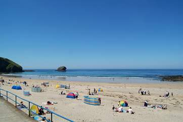 The family-friendly beach at Portreath is just a short car journey away.